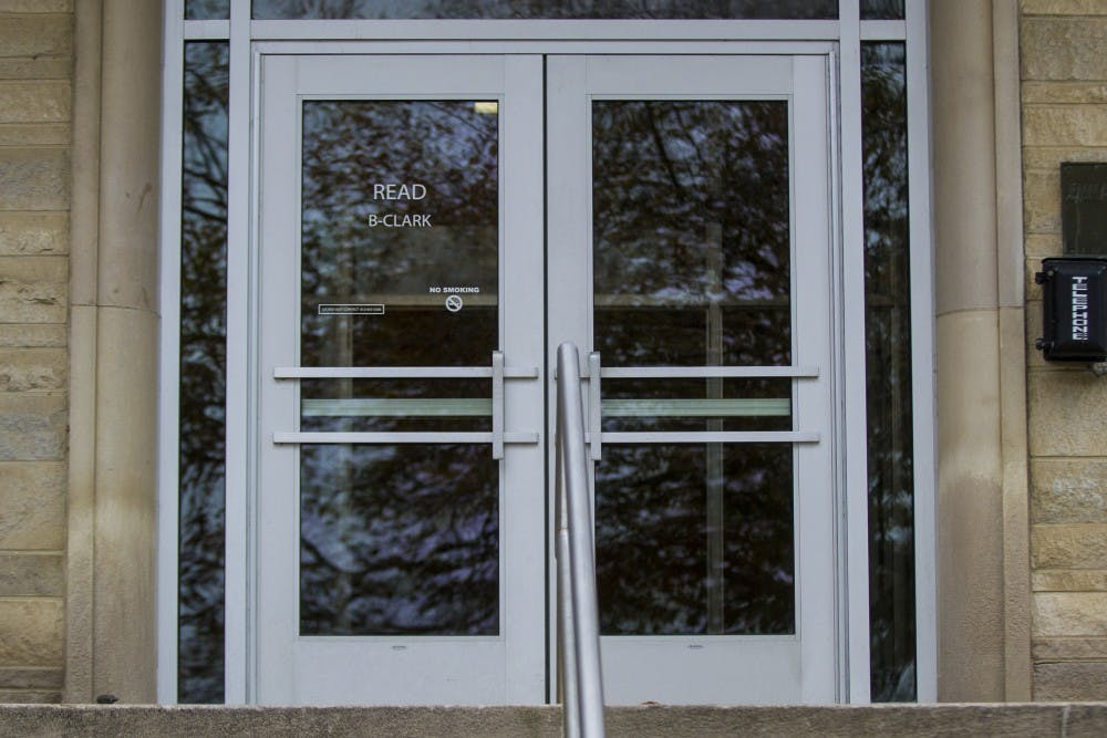 <p>The Clark wing of Read Center is seen Oct. 28. Officials are conducting a death investigation after a 19-year-old was found dead Monday morning.</p>