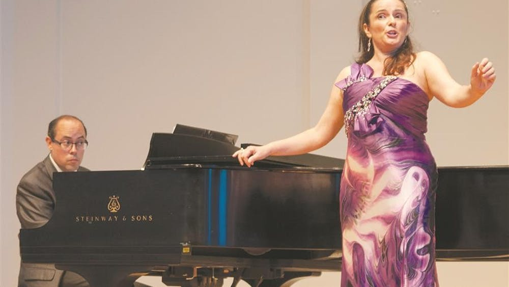 Pianist Gary Barnett and soprano Camelia Voin perform Romanian art songs Tuesday evening at the Ford-Crawford Hall.