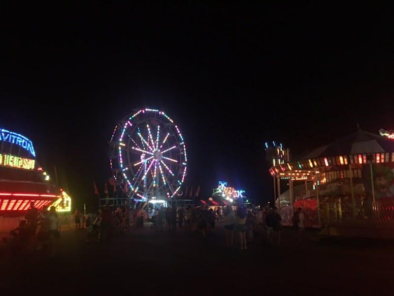 A photo of a ferris wheel at the Bartholomew County Fair. The Bartholomew County Fair ran from July 6 through July 14.