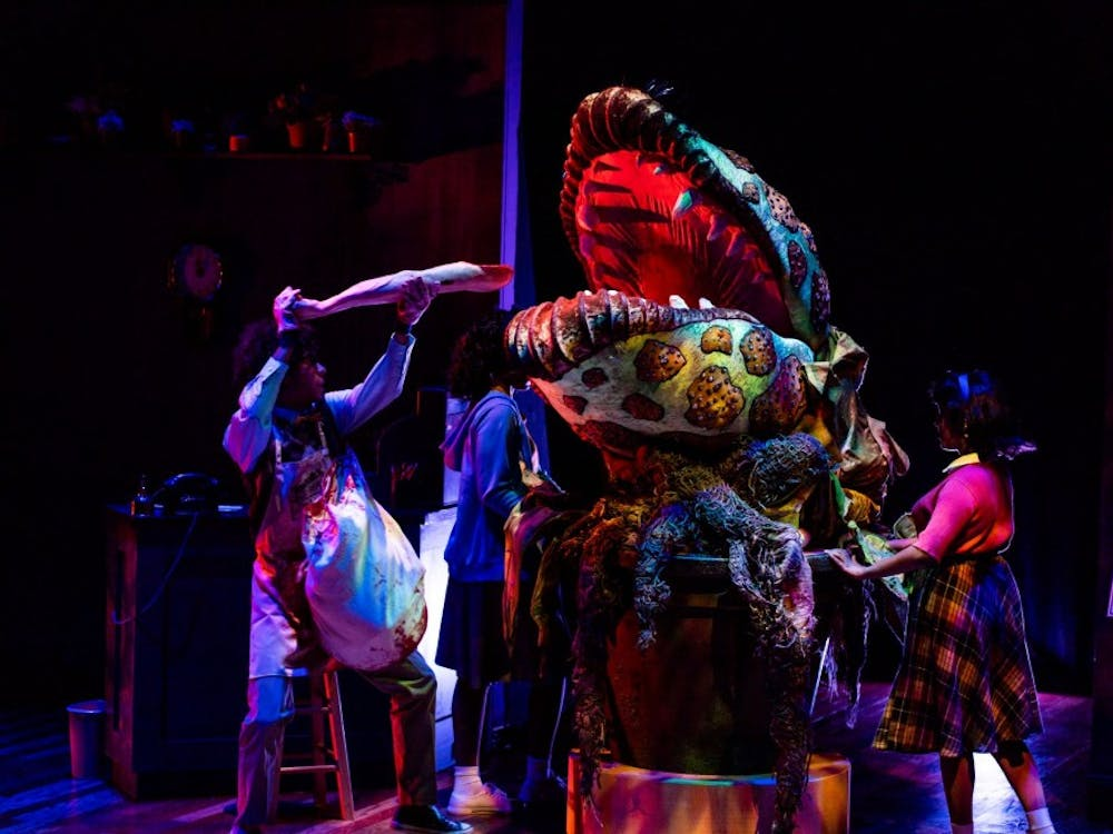 """IU Summer Theatre will be showing """"Little Shop of Horrors"""" July 28 at 7:30 p.m. The musical is a dark comedy with a crew of actors, costumers, lighting technicians and a giant puppet."""