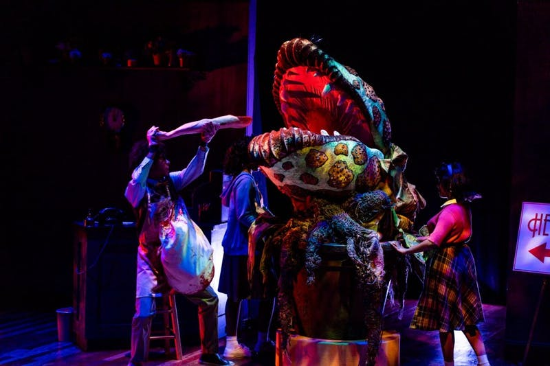 "IU Summer Theatre will be showing ""Little Shop of Horrors"" July 28 at 7:30 p.m. The musical is a dark comedy with a crew of actors, costumers, lighting technicians and a giant puppet."