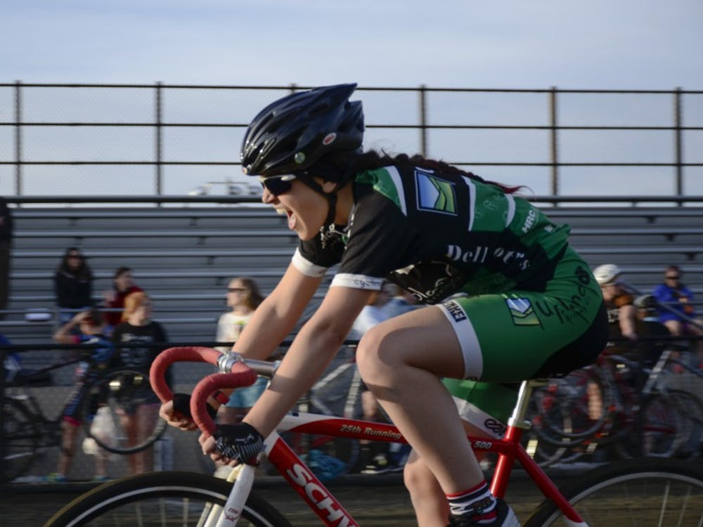 McKayla Bull from Phoenix Cycling races at Bill Armstrong Stadium during Individual Time Trials on Wednesday.