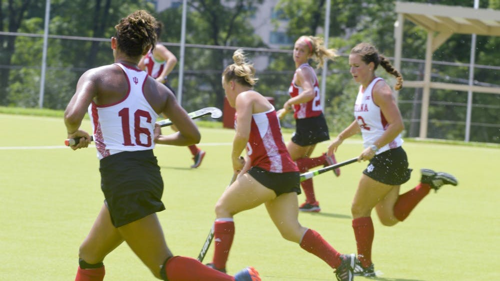 The Indiana University Field Hockey team went head to head against themselves during the Cream and Crimson Scrimmage match Friday afternoon at the IU Field Hockey Complex.
