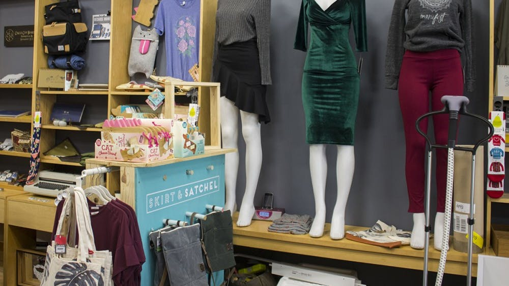 Skirt and Satchel opened Friday in Bloomington's Fountain Square Mall. The boutique is owned by Andy McManis.