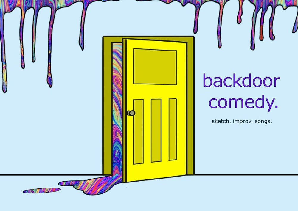 """<p>The Backdoor Comedy logo. Backdoor Comedy, a campus comedy group,will havetheirsecond show oftheirseason,at 9 p.m.Sept. 18, 2021, <a href=""""https://docs.google.com/document/u/0/d/13ciA_aKOdYjsEHgHieGIepYzZe4XndJW2-_dvhCrbOo/mobilebasic#cmnt2"""" target=""""""""></a>in the Indiana Memorial Union Stateroom East.</p>"""