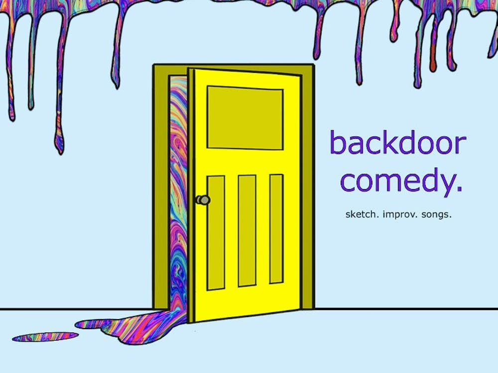 The Backdoor Comedy logo. Backdoor Comedy, a campus comedy group,will havetheirsecond show oftheirseason,at 9 p.m.Sept. 18, 2021, in the Indiana Memorial Union Stateroom East.
