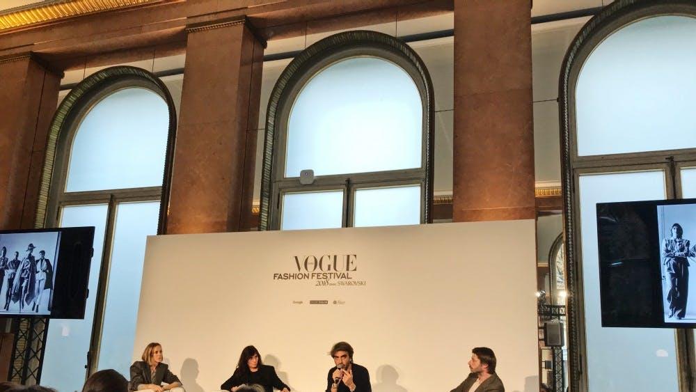 Vogue Paris editors discuss the role of fashion journalism at the Vogue Paris Fashion Festival on Nov 10.
