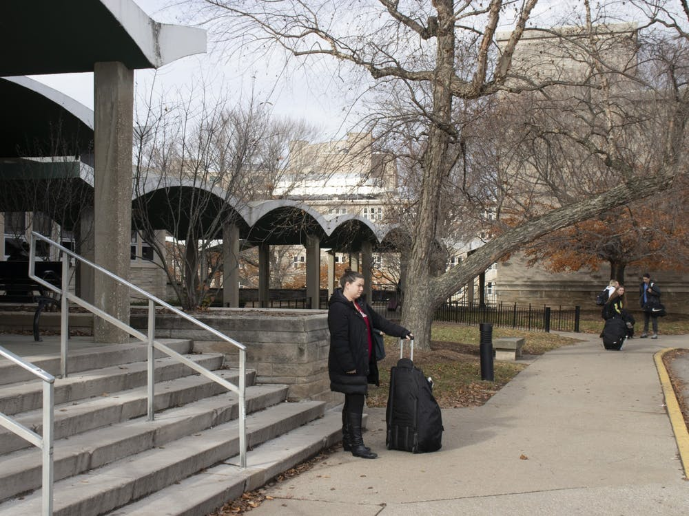 An IU studentmoves out of McNutt Quadrangle due to mold on Nov. 25, 2018. IU won a lawsuit Wednesday  that claimed students were exposed to mold in the Foster and McNutt dormitories in the 2018-19 school year.