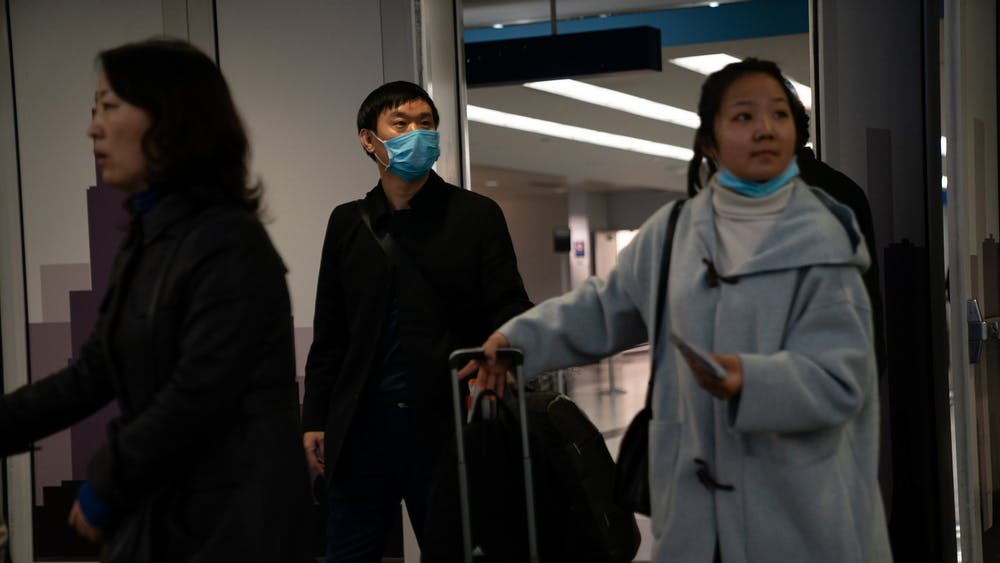 Passengers from United flight UA850 direct from Beijing arrive Jan. 24 at Terminal 5 at O'Hare International Airport. According to a Jan. 28 statement on the Porter County website, officials identified someone traveling through Porter County as potentially infected with coronavirus.