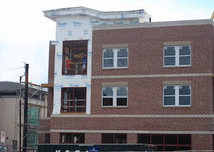 Cityside Apartments is located at 250 S. Washington St. Though the 2018 school year has started, several apartment buildings that have begun leases are still under construction.