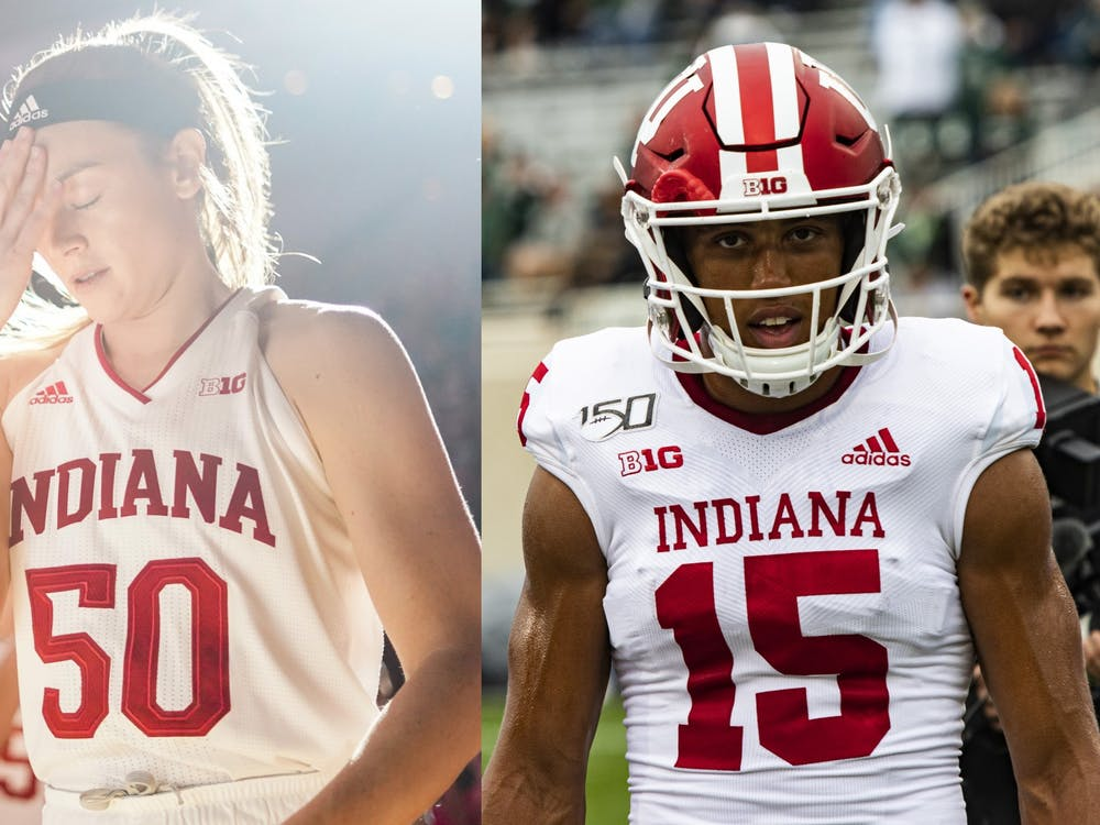 Then-seniors Brenna Wise and Nick Westbrook are recipients of Big Ten Outstanding Sportsmanship Awards. Each Big Ten university chooses one member of each varsity athletic team to receive the award.
