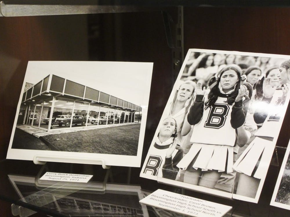 These are two photos are displayed at the exhibit starting Tuesday at Wells Library. All the photos at the exhibit are taken by photographer Carl David Repp.