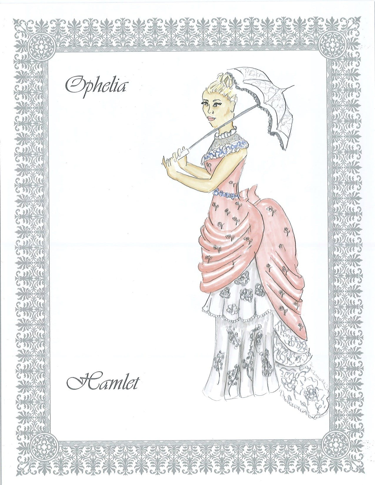 Ophelia costume design