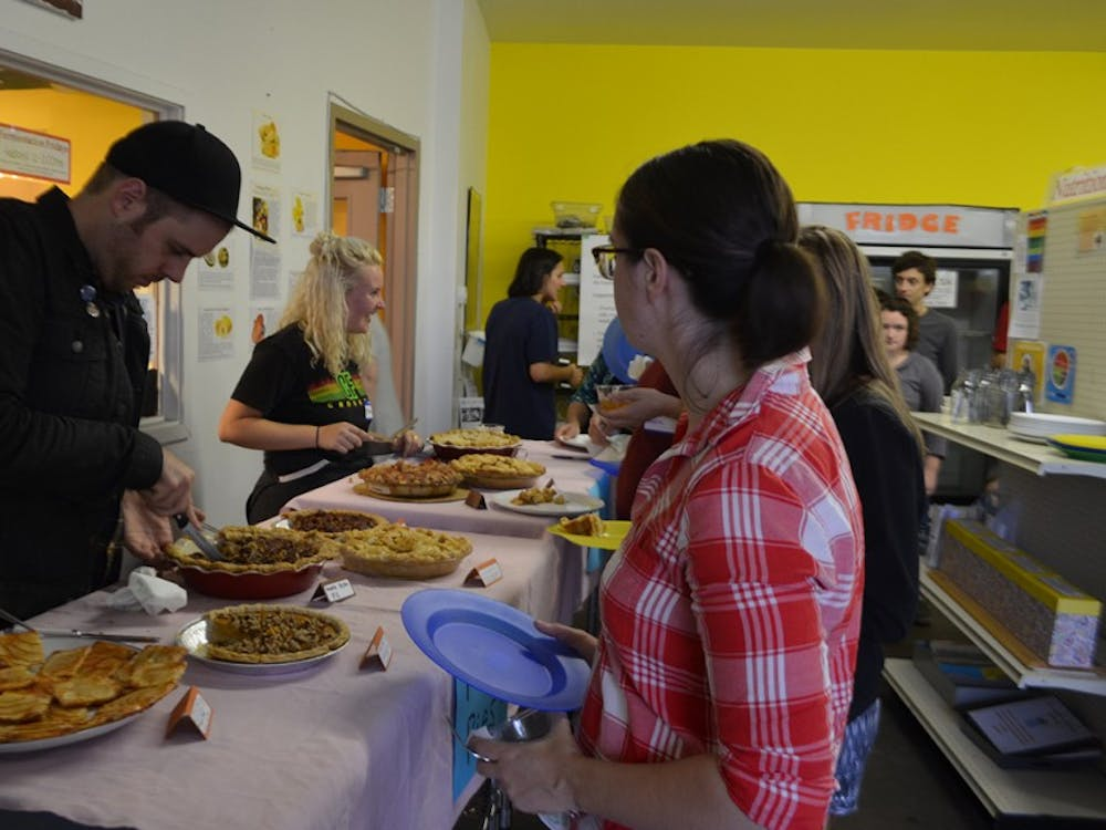 A diverse selection of pies were shared at Mother Hubbard's Cupboard's annual Pie Fest. The event was meant to raise awareness about food accessibility.