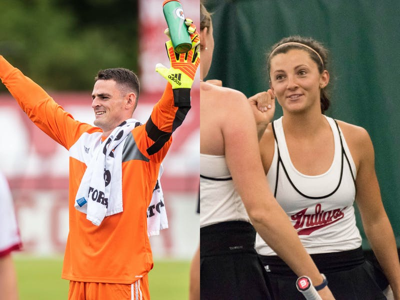 Former IU soccer goalkeeper Sean Caulfield and women's tennis player Michelle McKamey are the recipients of Big Ten postgraduate scholarships. The scholarships are worth $7,500 each.