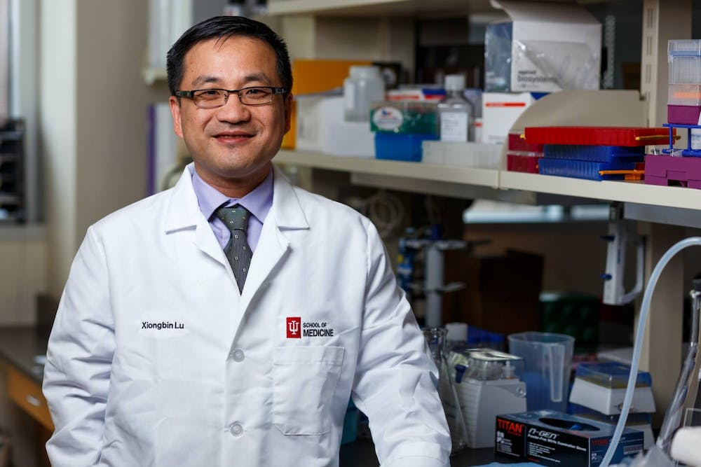 <p>Dr. Xiongbin Lu is a cancer biologist and professor of medical and molecular genetics at IU. Researchers at IU School of Medicine recently discovered a new form of treatment for triple negative breast cancer, a form of breast cancer that is not as responsive to chemotherapy due to a lack of receptors found in cancerous cells. </p>