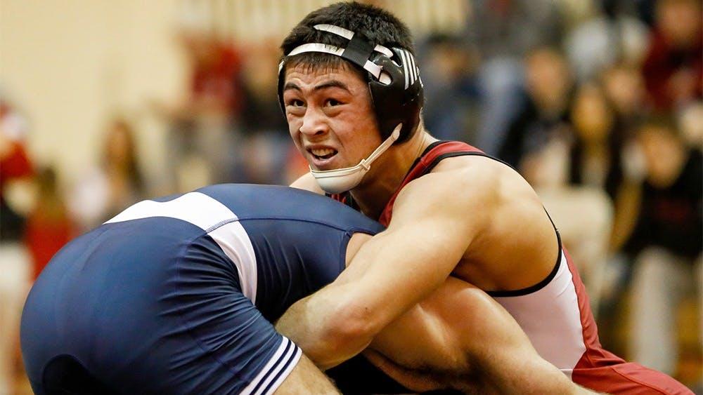 Matt Irick has a 184 lbs match with Matt McCutcheon from Penn State Sunday at University Gym. Irick lost the match by 5-3.