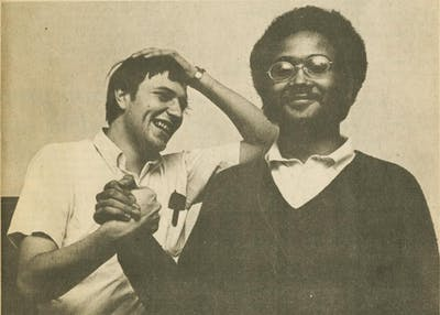 Keith Parker, right, was the student body president of IU during the 1970-71 term. Parker was awarded a Bicentennial Medal on Wednesday at a Neal-Marshall Black Culture Center.