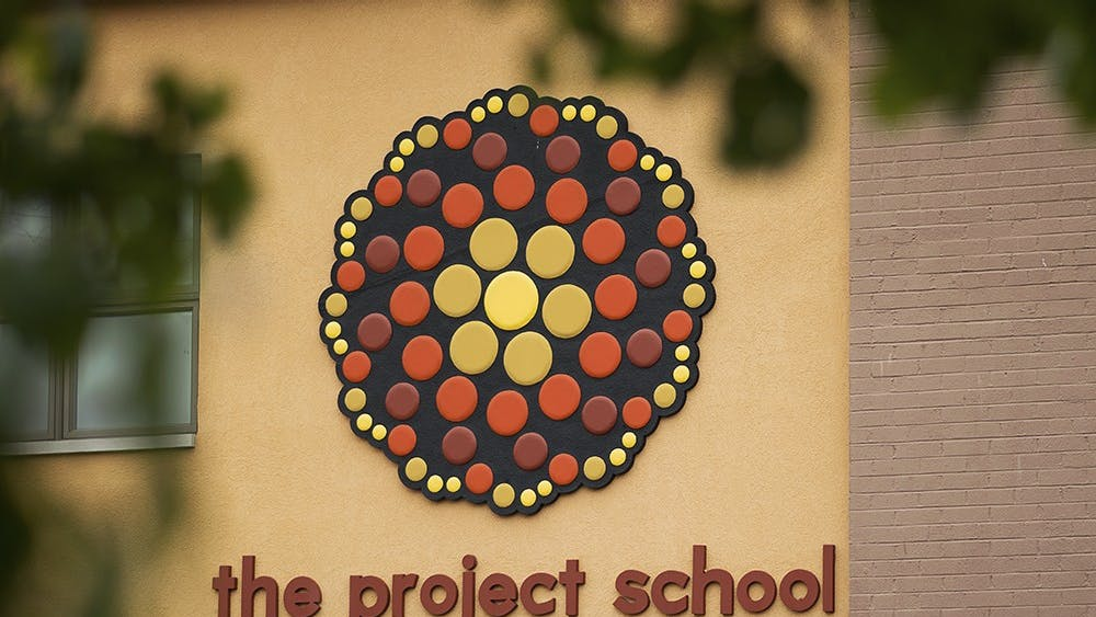 The Project School on Walnut Street teaches kindergarten through eighth grade. The school received a $1,000 Tools for Schools grant from Old National Bank in October.