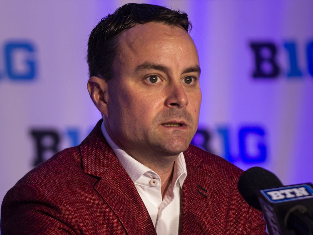 IU men's basketball head coach Archie Miller speaks Oct. 2, 2019, at Big Ten Basketball Media Day in Rosemont, Illinois. Miller was the head coach from 2017 to 2021.