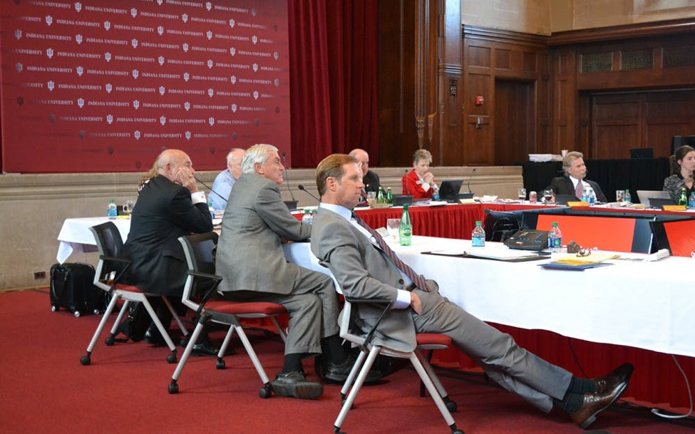 The Board of Trustees held a meeting at Alumni Hall Wednesday afternoon.