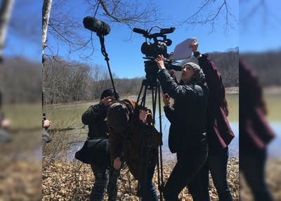 "Kasey Poracky directs ""Shift,"" a film collaboration between the Media School and the Jacobs School of Music. The film will be screened at 7 p.m. Saturday at IU's annual student film festival, ""Montage,"" at the IU Cinema."