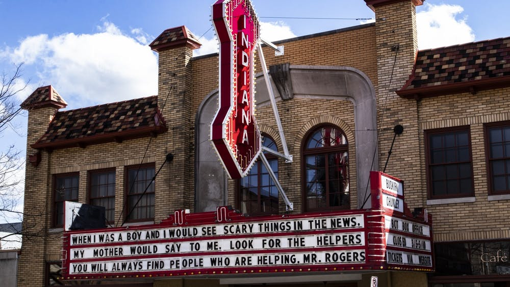 The Buskirk-Chumley Theater facade is seen March 29 on Kirkwood Avenue. The theater has lost more than $100,000 due to the coronavirus pandemic.