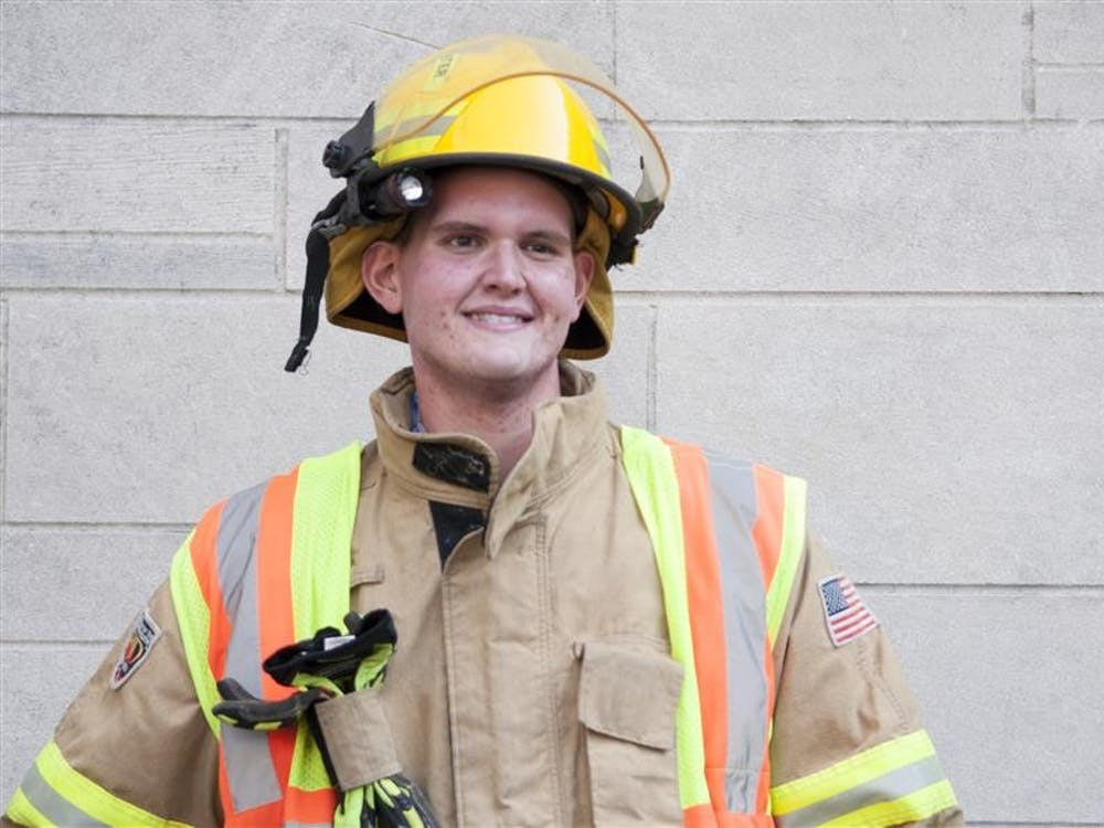 IU junior David Smith became a firefighter after losing 341 pounds. Originally weighing 620 pounds, doctors said if Smith did not lose weight he would not live a full life.