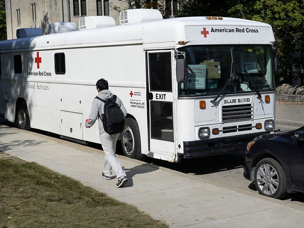 The American Red Cross blood donation truck used to make regular stops outside Ballantine Hall to promote students to donate blood. The coronavirus pandemic resulted in the cancellation of many blood drives.