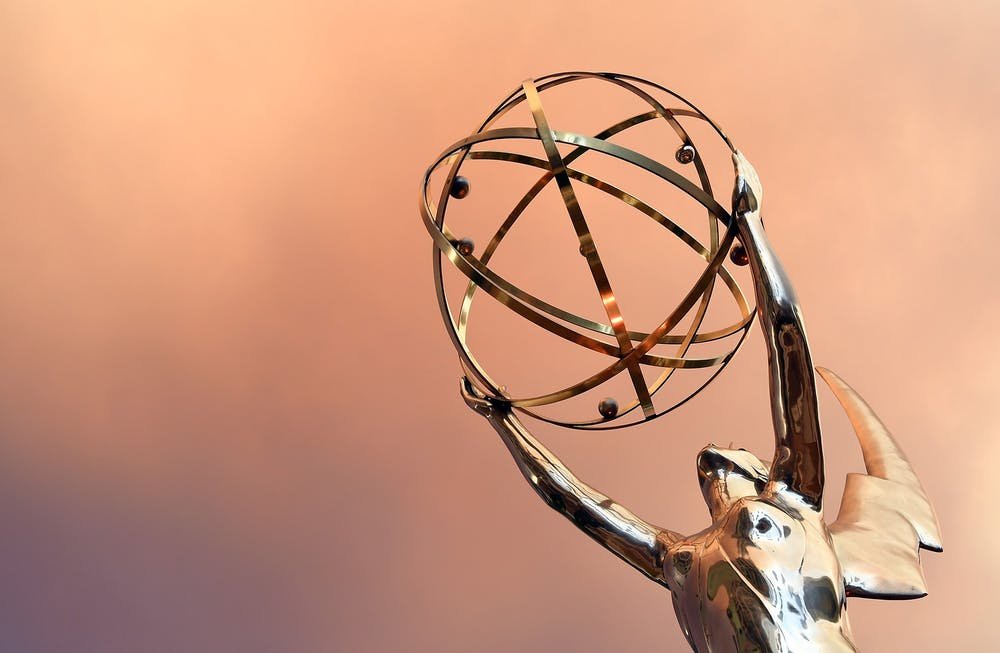 <p>An Emmy Award is seen July 23, 2016, during the red carpet for the 68th Los Angeles Emmy Awards in North Hollywood, California.</p>