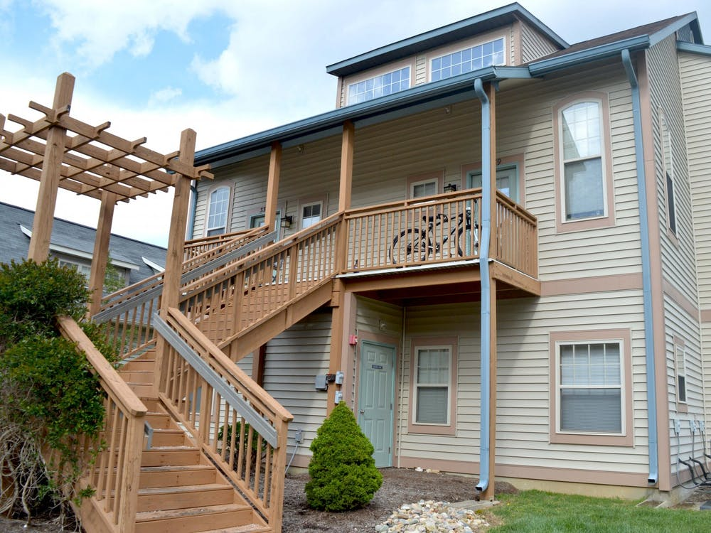 A duplex appears April 21 in the MeadowCreek neighborhood in Bloomington. The Bloomington City Council considered changes to the UDO at its meeting Wednesday.