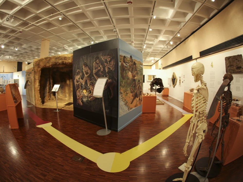 One of the main exhibits at the Mathers Museum located on 8th and Indiana Avenue.