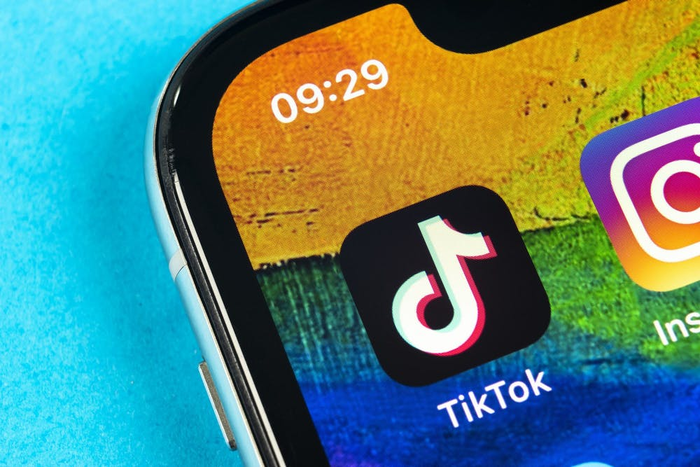 <p>The TikTok app is pictured on the home screen of a phone.</p>