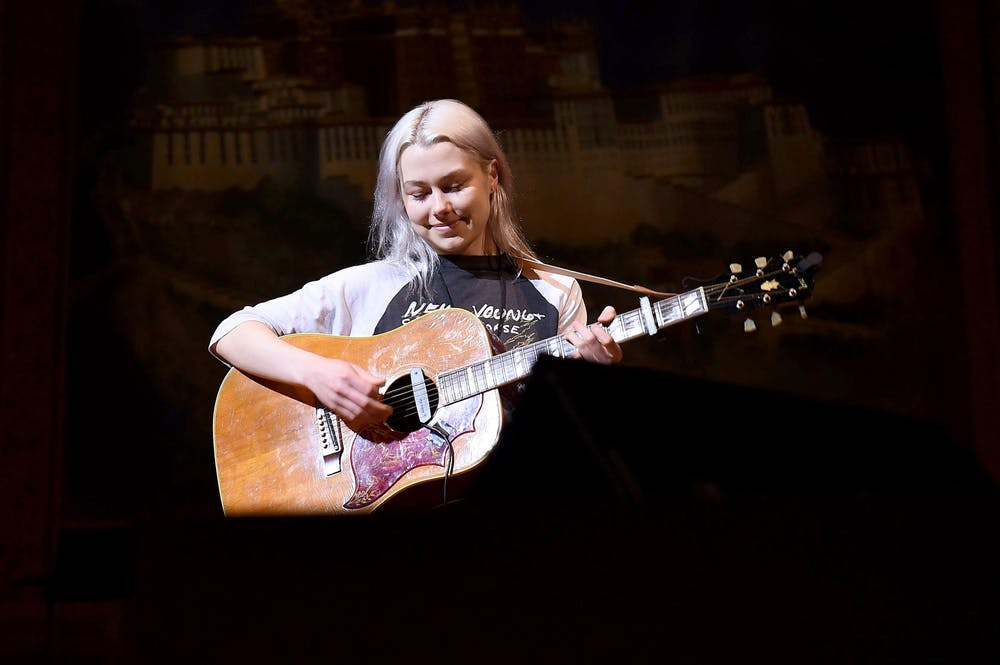 <p>Musician Phoebe Bridgers rehearses on stage Feb. 26 during the 33nd Annual Tibet House U.S. Benefit Concert &amp; Gala in New York City. </p>