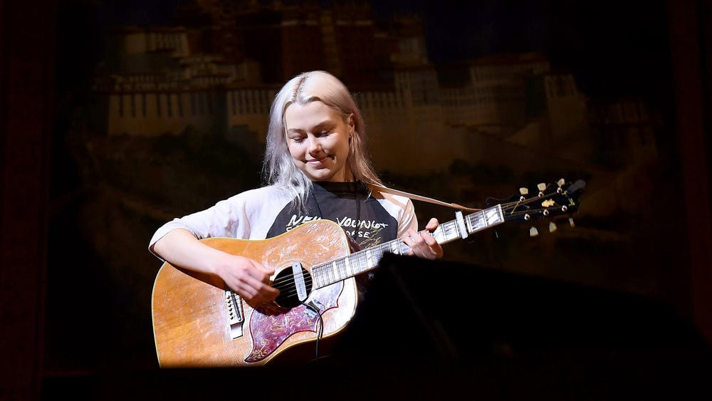 Musician Phoebe Bridgers rehearses on stage Feb. 26 during the 33nd Annual Tibet House U.S. Benefit Concert & Gala in New York City.