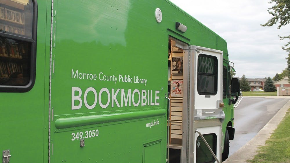 The Monroe County Library uses their bookmobile as a way to make checking out books more accessible for the Bloomington community. The bookmobile made a stop at Orchard Glen Apartments Wednesday evening.