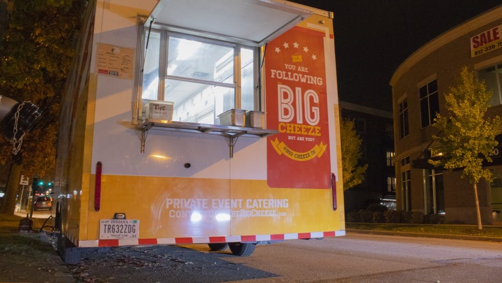 The Big Cheeze is typically parked in front of Switchyard Brewing Company at 419 N. Walnut St.