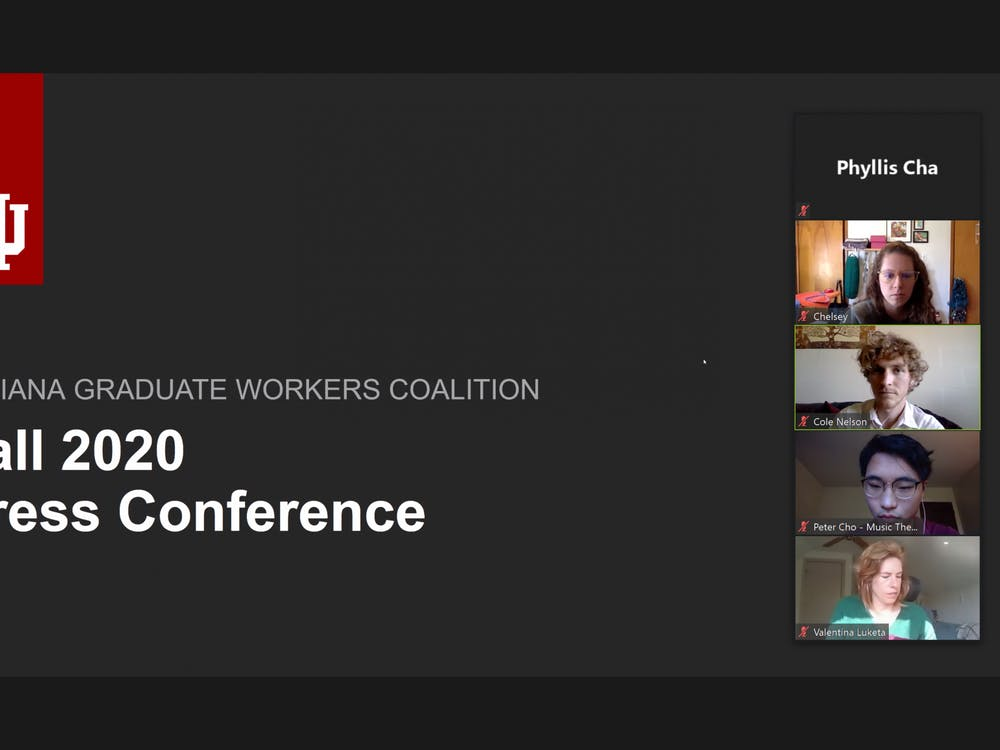 More than 45 people attended a virtual press conference held by the Indiana Graduate Workers Coalition, a multidisciplinary group of graduate workers fighting for better working conditions.