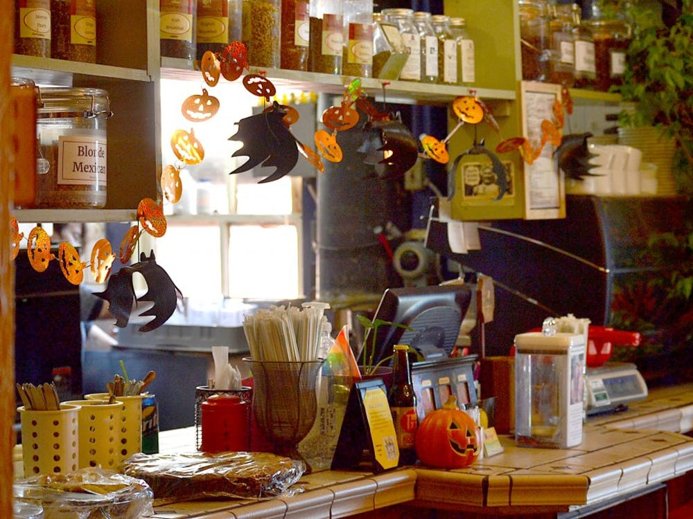 The Runcible Spoon is now decorated with fall decor. The Runcible Spoon is a Bloomington restaurant located on 412 E. Sixth St.