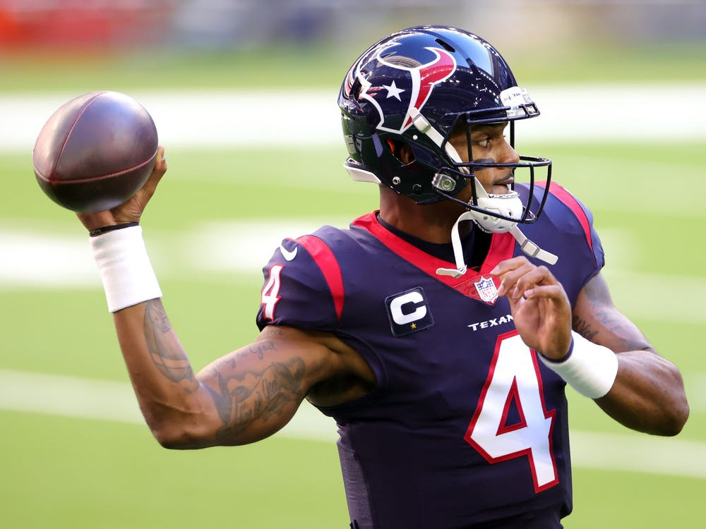 Houston Texans quarterback Deshaun Watson throws the football during a game against the Tennessee Titans on Jan. 3 in Houston, Texas. Watson could be on the move this offseason, eyeing a fresh start with a new team.