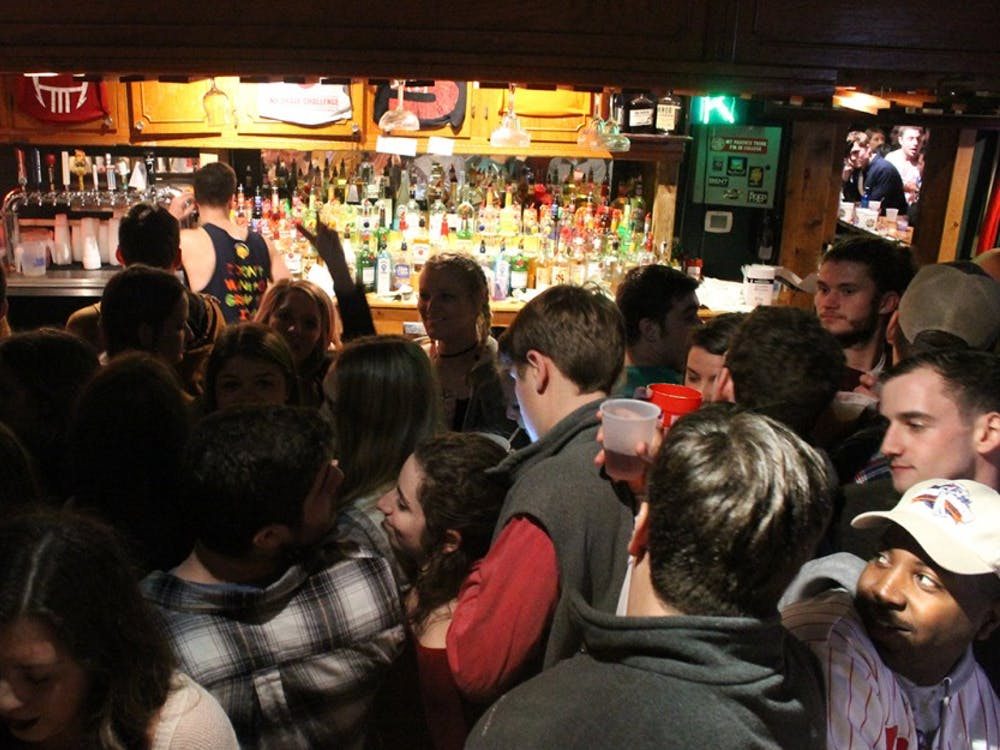 Students pack into Kilroys on Kirkwood Monday afternoon for their open to close event. Students begin the day at KOK around 11 a.m. and attempt to stay until KOK closes at 3 a.m.