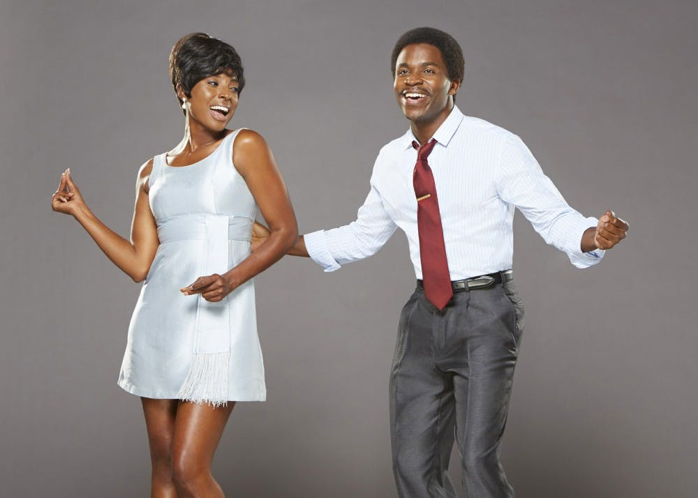 "<p>Kenneth Mosley as Berry Gordy and Trenyce as Diana Ross star in ""Motown The Musical."" The musical comes to the IU Auditorium Oct. 31 - Nov. 2 at 8 p.m. both nights.</p>"