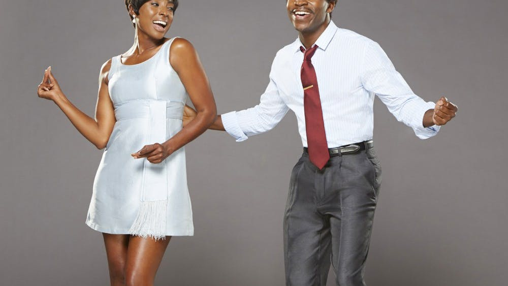 """Kenneth Mosley as Berry Gordy and Trenyce as Diana Ross star in """"Motown The Musical."""" The musical comes to the IU Auditorium Oct. 31 - Nov. 2 at 8 p.m. both nights."""