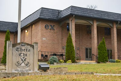 The Alpha Iota chapter of the Theta Chi Fraternity's house is located at 1440 N. Jordan Ave. The house will be allowed to return to 80% capacity.