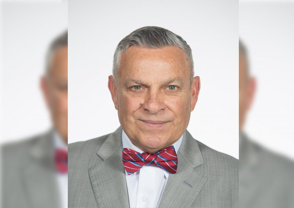 <p>Professor and Dean Emeritus Gerardo Gonzalez poses for a headshot. Gonzalez will retire as the dean for the School of Education this summer.</p>