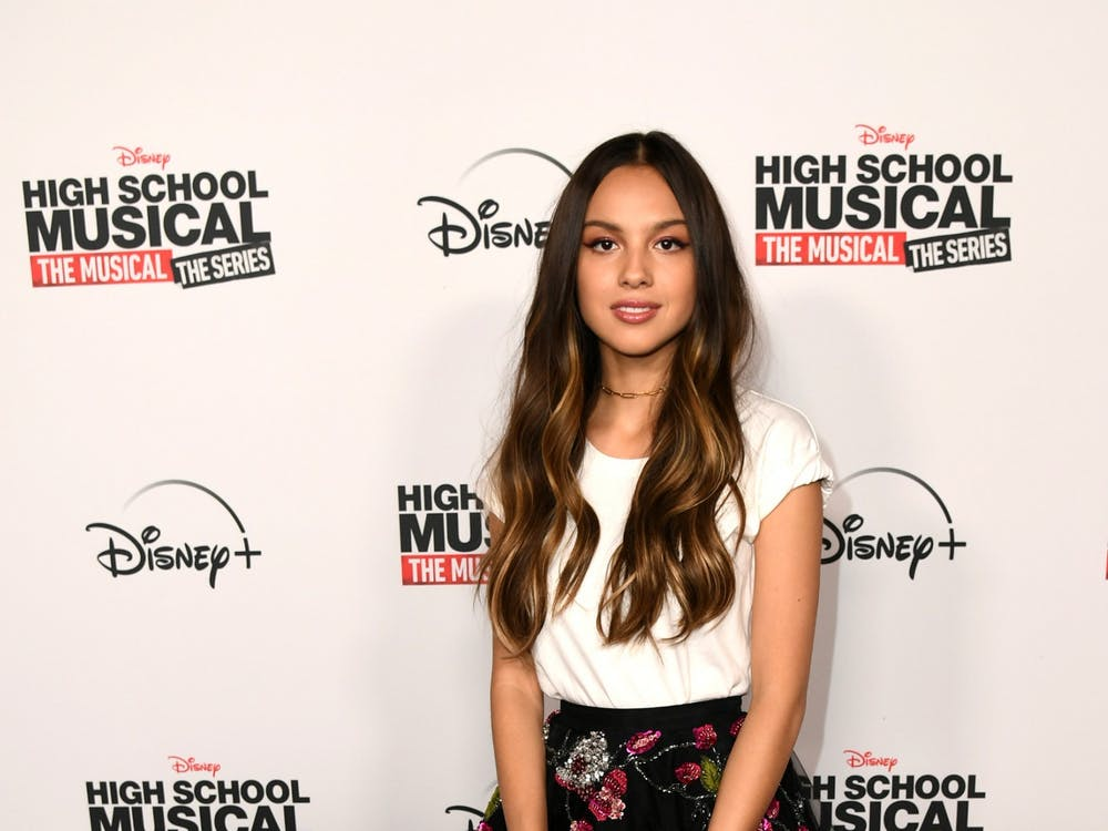 "Olivia Rodrigo poses at the premiere of ""High School Musical: The Musical: The Series"" at Walt Disney Studio Lot on Nov. 1, 2019, in Burbank, California. Rodrigo's single ""Driver's License"" has broken the record for most streams of a song in a week on Spotify."