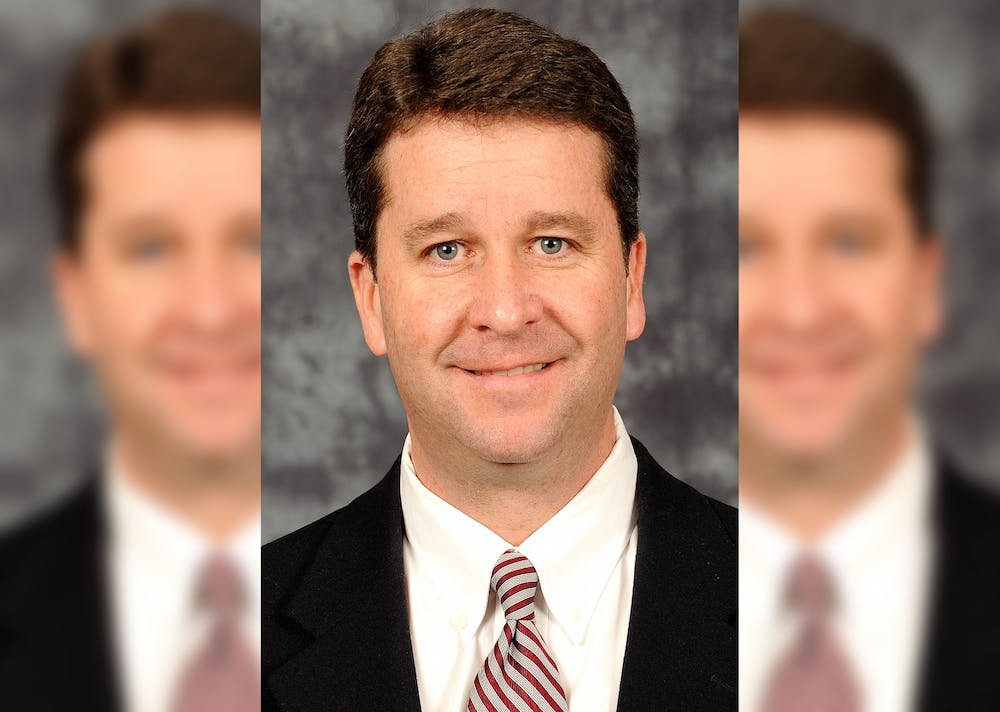 <p>Athletic director Scott Dolson is pictured. Dolson sent an email Tuesday to athletic staff voicing his outrage against recent racist events in Bloomington. </p>