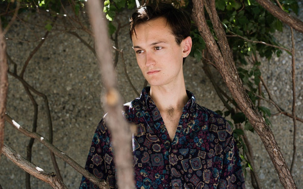 """<p>Tim Darcy's debut solo album, """"Saturday Night,"""" deals with imagery of rivers as he navigates through a variety of inner currents and the impulse to create. Darcy will perform Wednesday night at the Bishop.</p>"""
