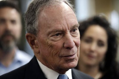 Former mayor of New York City Michael Bloomberg speaks to media July 29 in Nashua, New Hampshire. Bloomberg filed to be on the ballot for Alabama's Democratic presidential primary on Nov. 8.