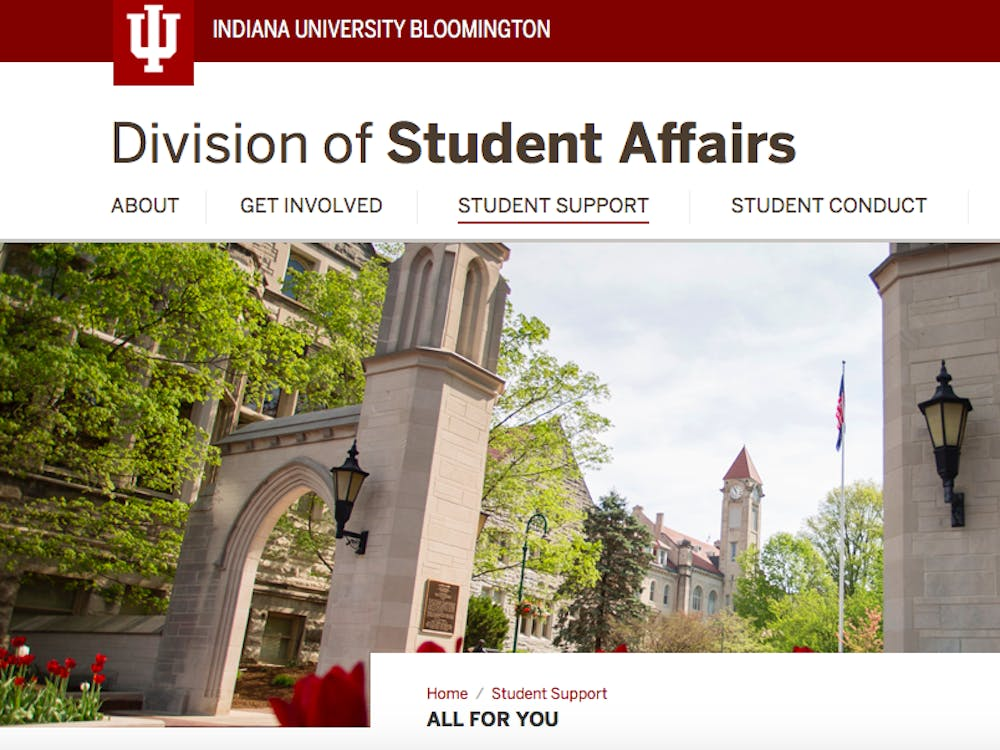 The Division of Student Affairs website is pictured. Resources such as how to manage social isolation, financial stress, physical health and technological issues for students can be found on the webpage.